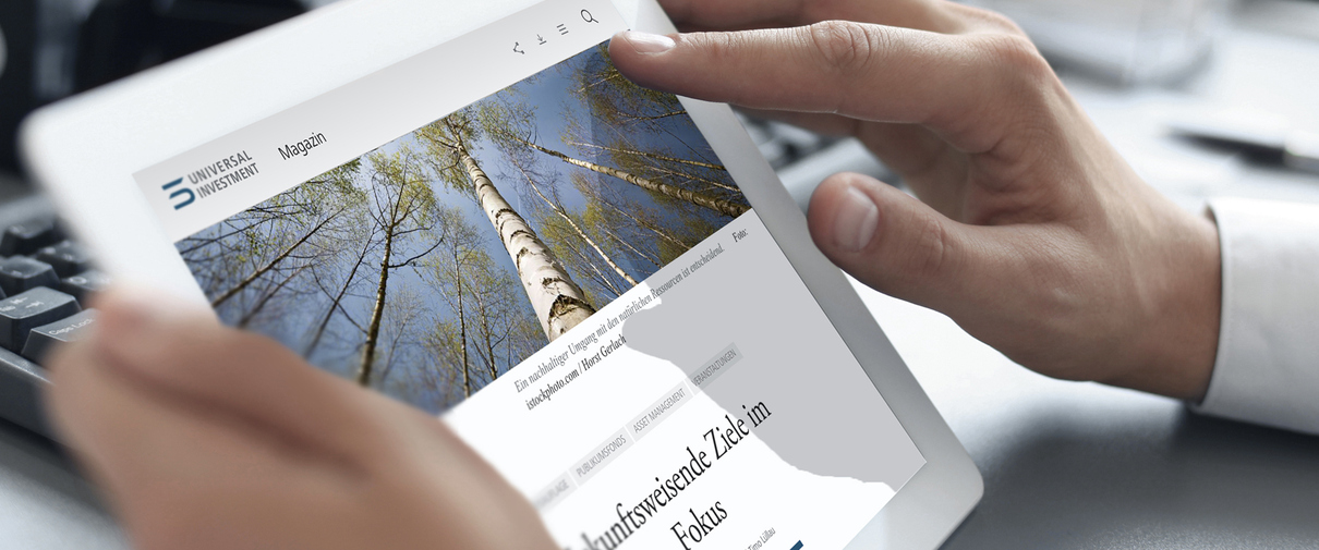Konzeption und Design einer responsive Corporate Website für Universal-Investment